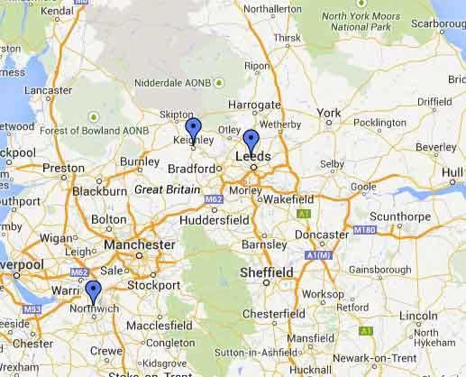 Classic Car Hire North Locations