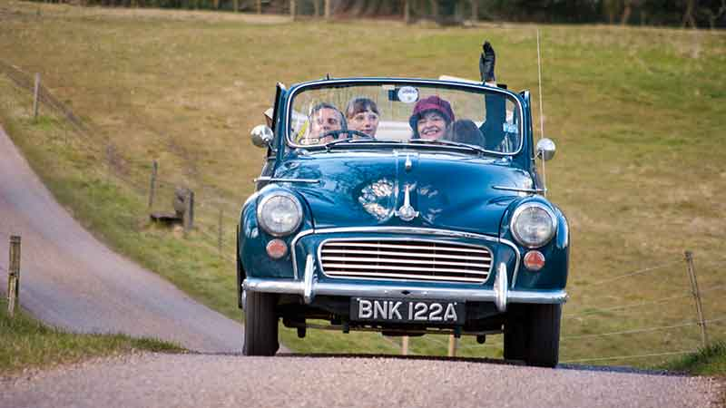 Morris Minor Hire North Yorrkshire