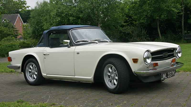 Triumph TR6 hire South Yorkshire