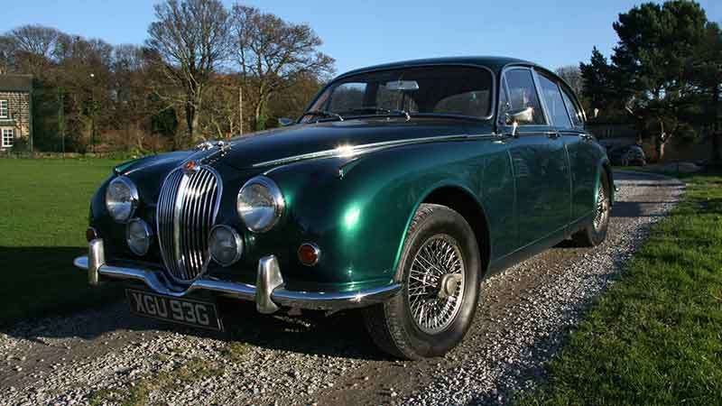 Jaguar MK2 hire North Yorkshire