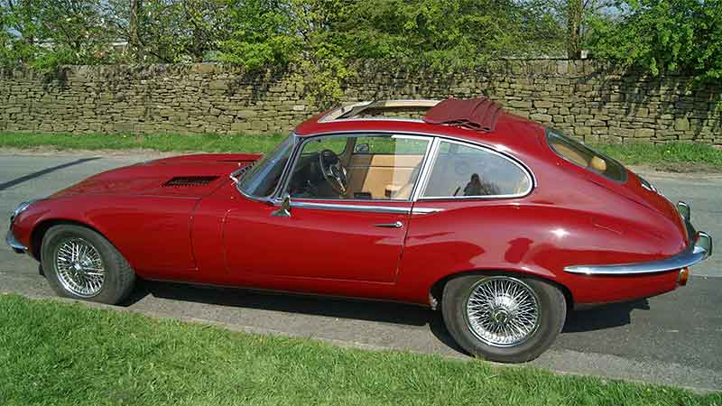 Jaguar e type hire north west