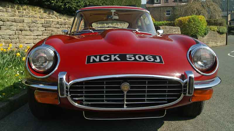 Jaguar e type hire south yorkshire