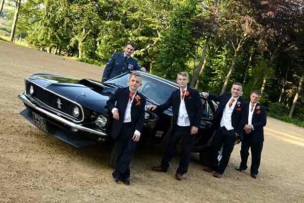 Mustang wedding car
