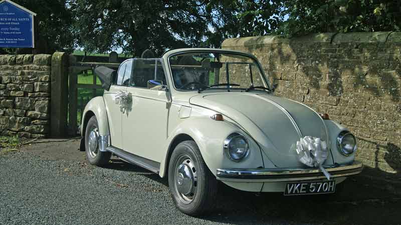 VW beetle hire weddings