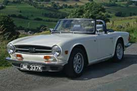 Triumph TR6 sports car