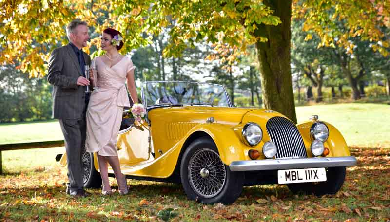 Morgan Hire for weddings in the North West and Peak District
