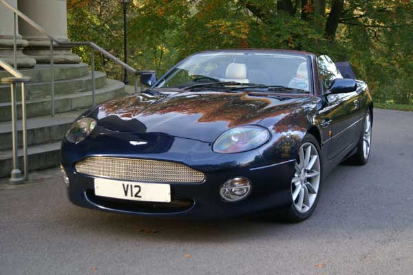 Aston Martin rental from our Leeds Base