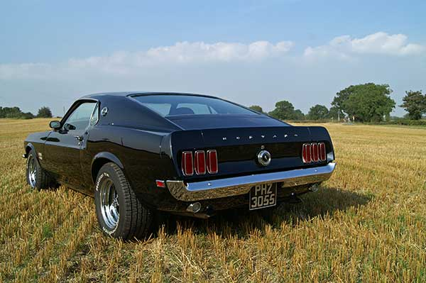 American muscle car for hire in the UK
