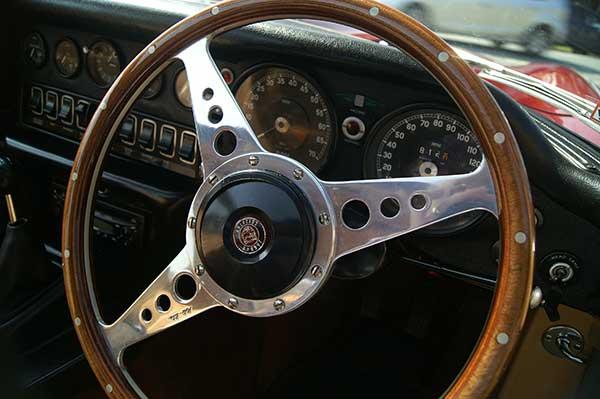 E-type coupe interior