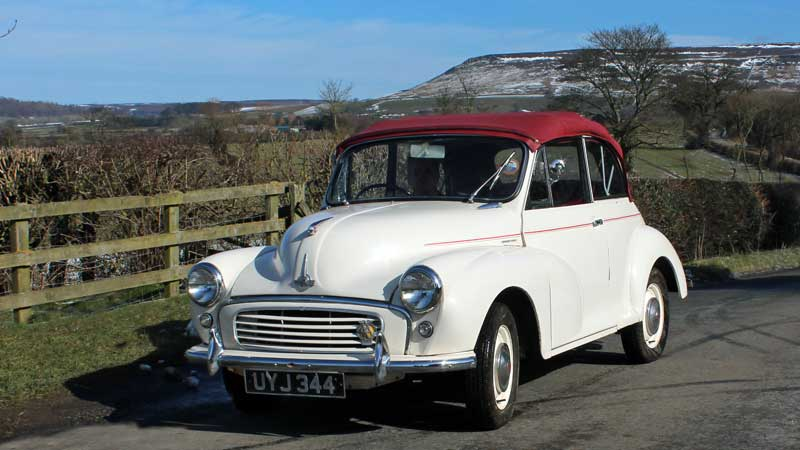 Morris Minor Hire North Yorkshire in conjunction with Autism Plus