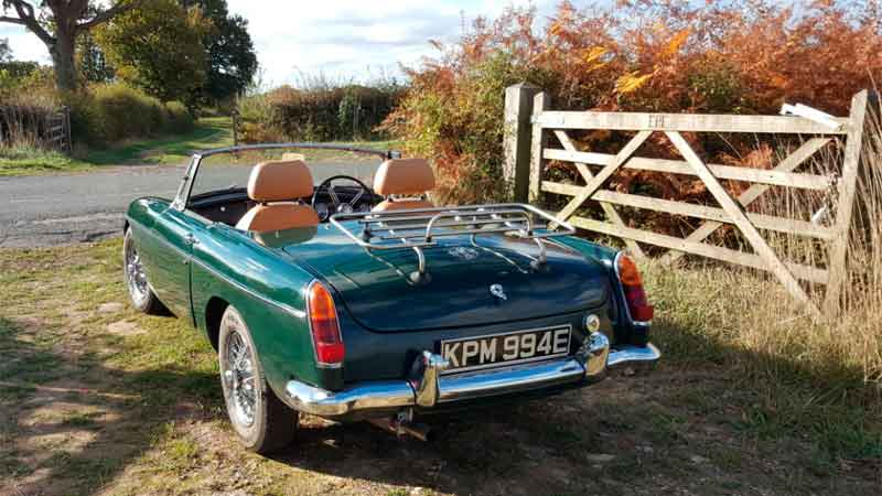 MGB roadster hire for a fun day out in the Cotswolds