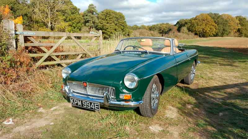 MGB hire not far from London