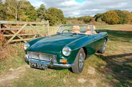 A fun day out in the Cotswolds driving an MGB Roadster