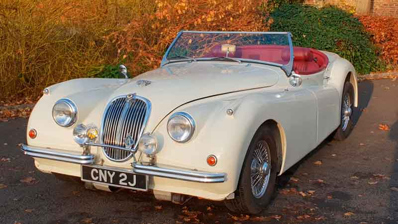 Jaguar XK120 wedding car