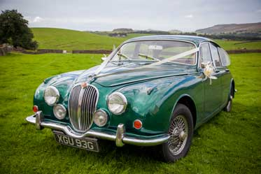 Jaguar MK2 wedding car