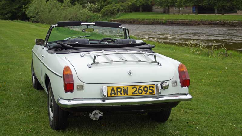 MGB hire car in the Yorkshire Dales