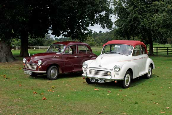 Morris Minor to hire in North Yorkshire