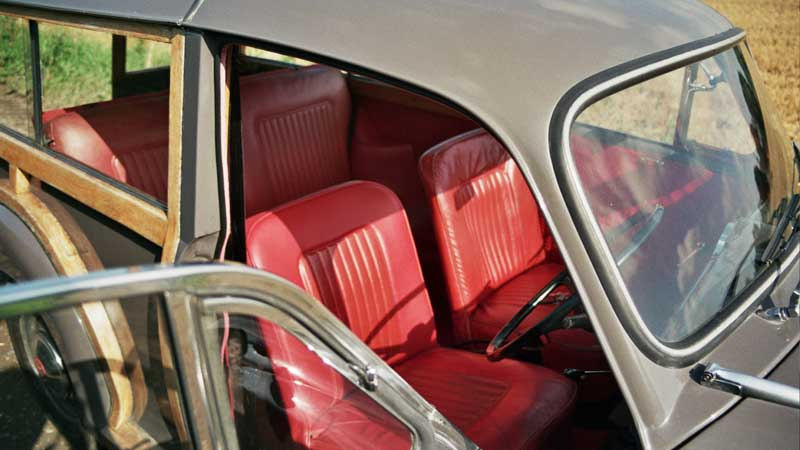 Morris Minor red interior