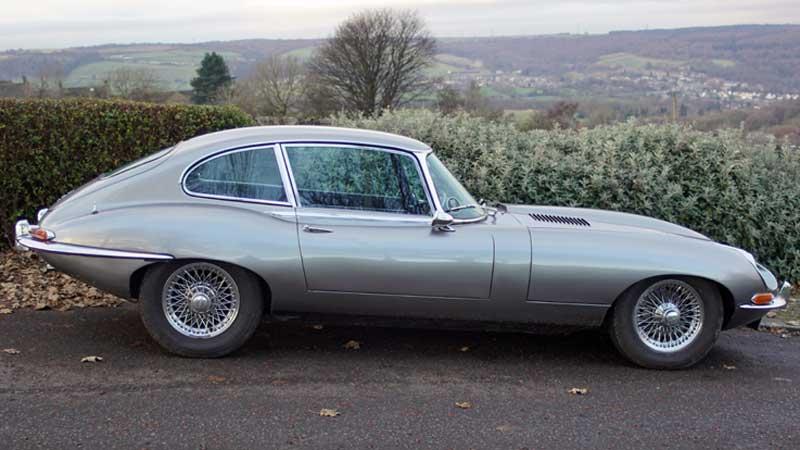 Pick up a Jaguar-E-Type hire car in Leeds
